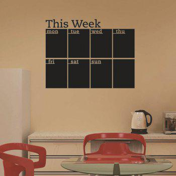 High Quality Weekly Plan Pattern Removeable School Wall Stickers - BLACK