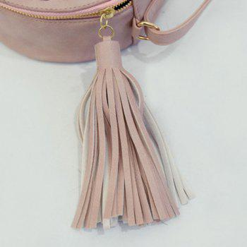 Fashionable Tassels and PU Leather Design Crossbody Bag For Women - PINK