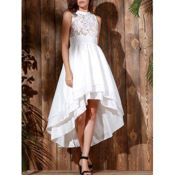 Noble Sleeveless Layered Asymmetric White Maxi Gothic Dresses For Women
