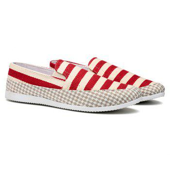 Simple Elastic and Striped Design Men's Casual Shoes - RED RED