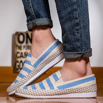 Simple Elastic and Striped Design Men's Casual Shoes - LIGHT BLUE 44