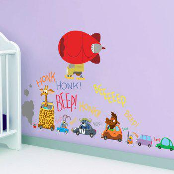 High Quality Colorful Zootopia Character Pattern Removeable Wall Stickers - COLORMIX