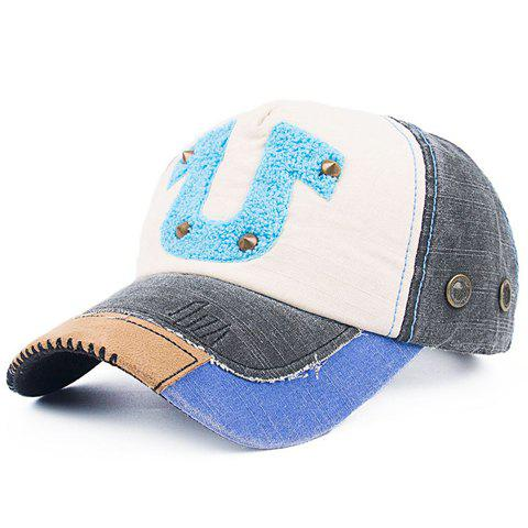 Trendy Rivet Button Horseshoe Shape Embellished Baseball Cap от Dresslily.com INT