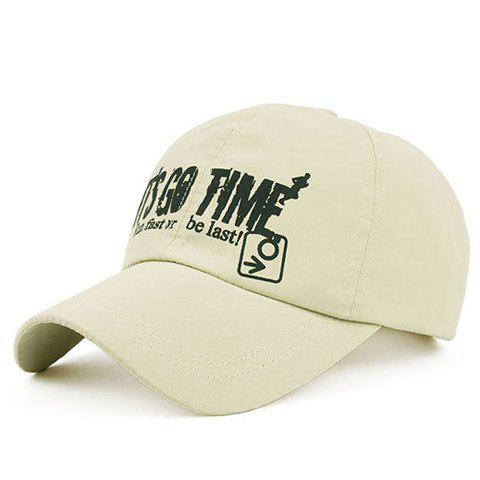 Fashion Letters and Arrow Pattern Baseball Cap - BEIGE