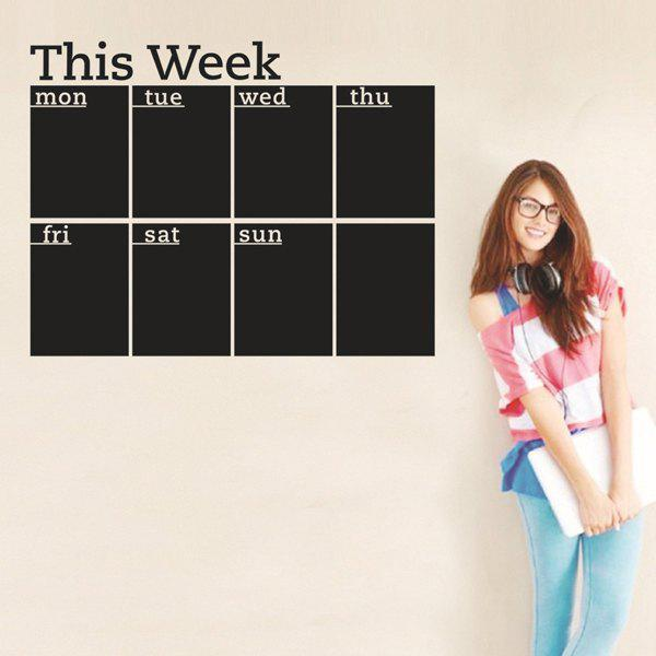 High Quality Weekly Plan Pattern Removeable School Wall Stickers