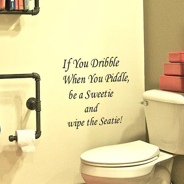 High Quality Letters Pattern Removeable Toilet Wall Stickers