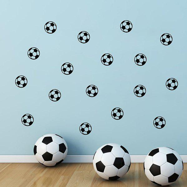 High Quality Soccer Pattern Removeable Wall Stickers - BLACK
