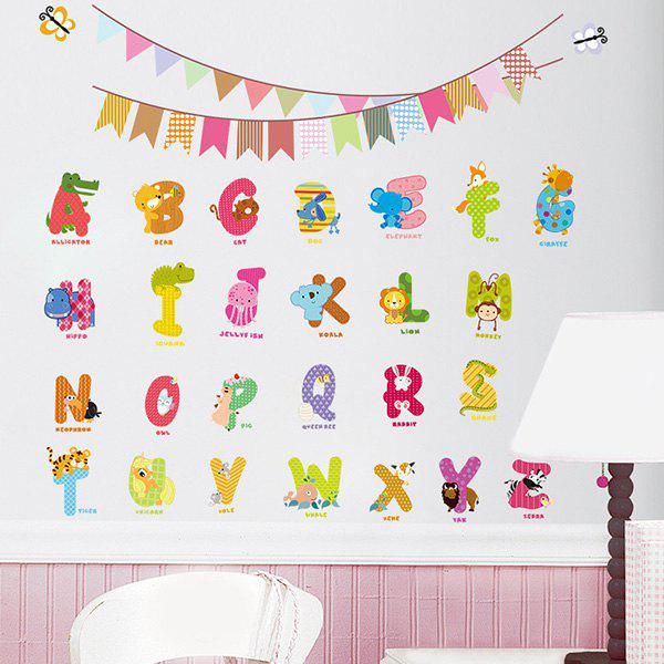 High Quality Colorful Letter Pattern Removeable Early Learning Wall Stickers