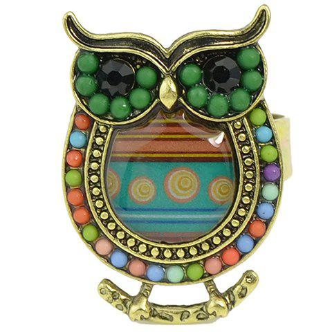 Gorgeous Owl Beads Ring For Women