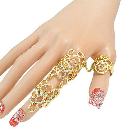 Chic Rhinestoned Hollow Out Ring For Women