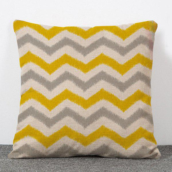 Stylish Break Line Pattern Flax Pillow Case(Without Pillow Inner) - COLORMIX