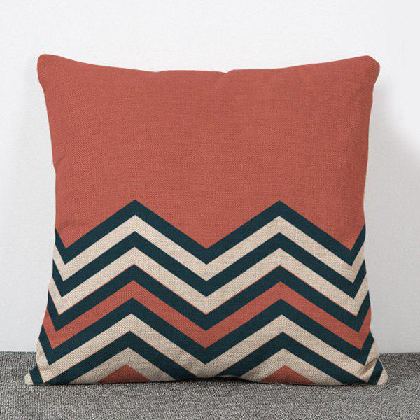 High Quality Simple Style Stripe Pattern Flax Pillow Case(Without Pillow Inner) - COLORMIX