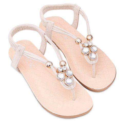 Casual Elastic Band and Flip Flops Design Sandals For Women - OFF WHITE 38