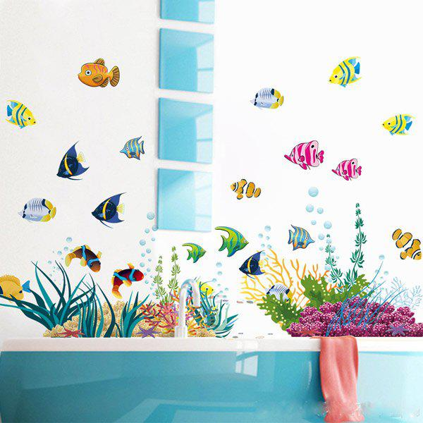 High Quality Cartoon Fishes Pattern Removeable Wall Sticker