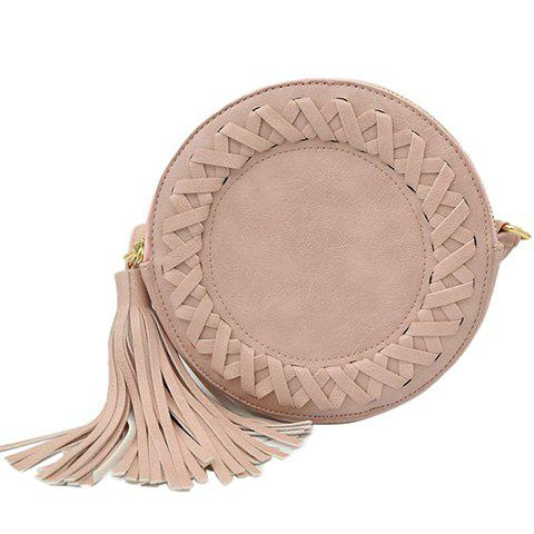 Fashionable Tassels and PU Leather Design Crossbody Bag For Women fashionable tassels and pu leather design crossbody bag for women
