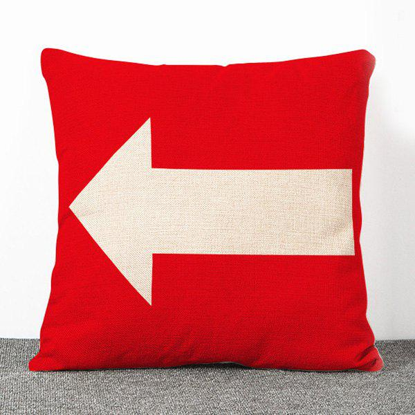 Hot Sale Leading Mark Pattern Flax Pillow Case(Without Pillow Inner) - RED