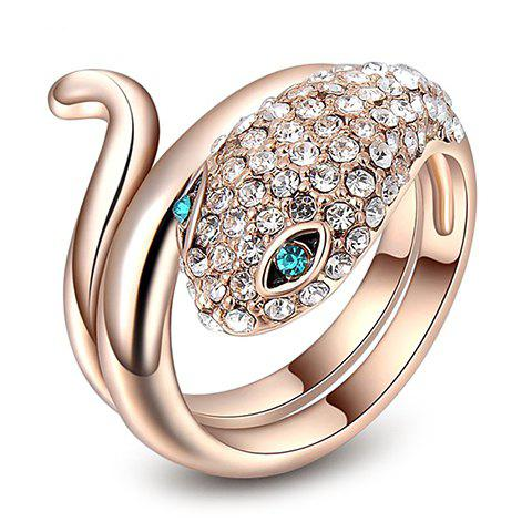 Charming Alloy Rhinestoned Snake Ring For Women