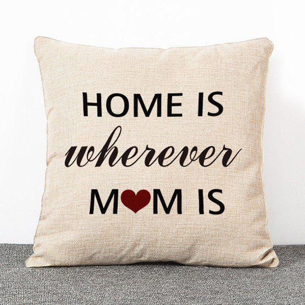 Chic Quality Letters Pattern Flax Pillow Case(Without Pillow Inner)