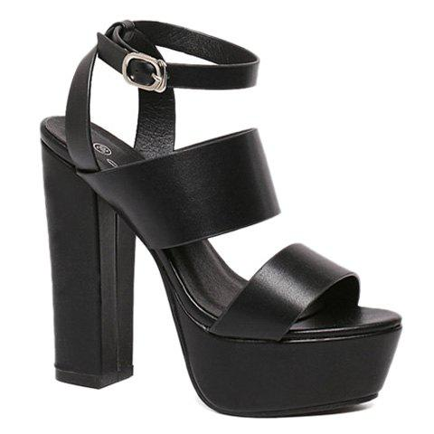 Sexy Chunky Heel and Platform Design Women's Sandals
