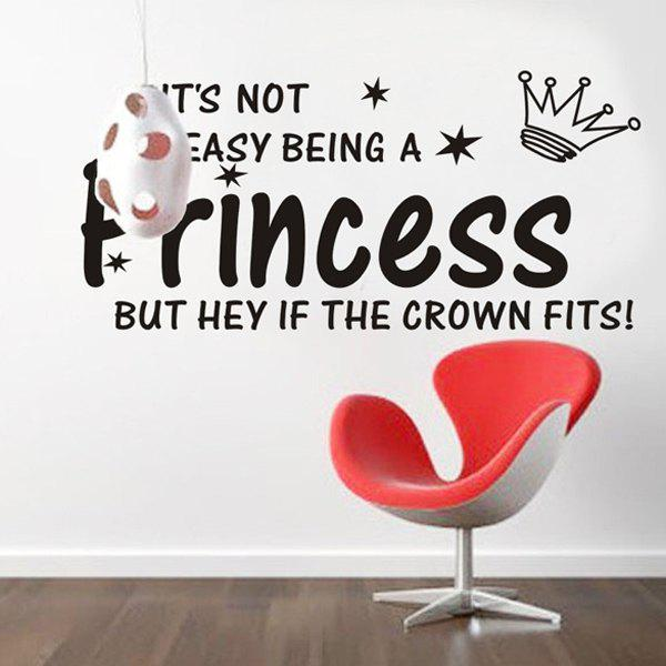 High Quality Crown and Letter Pattern Removeable Wall Sticker
