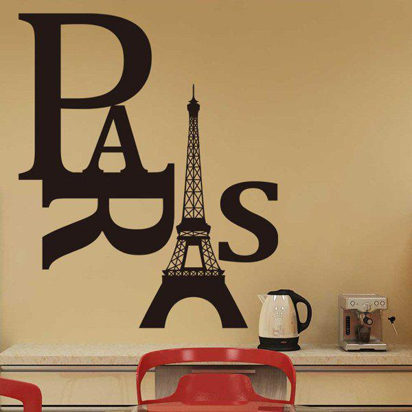 High Quality Eiffel Tower and Letter Pattern Removeable Wall Sticker