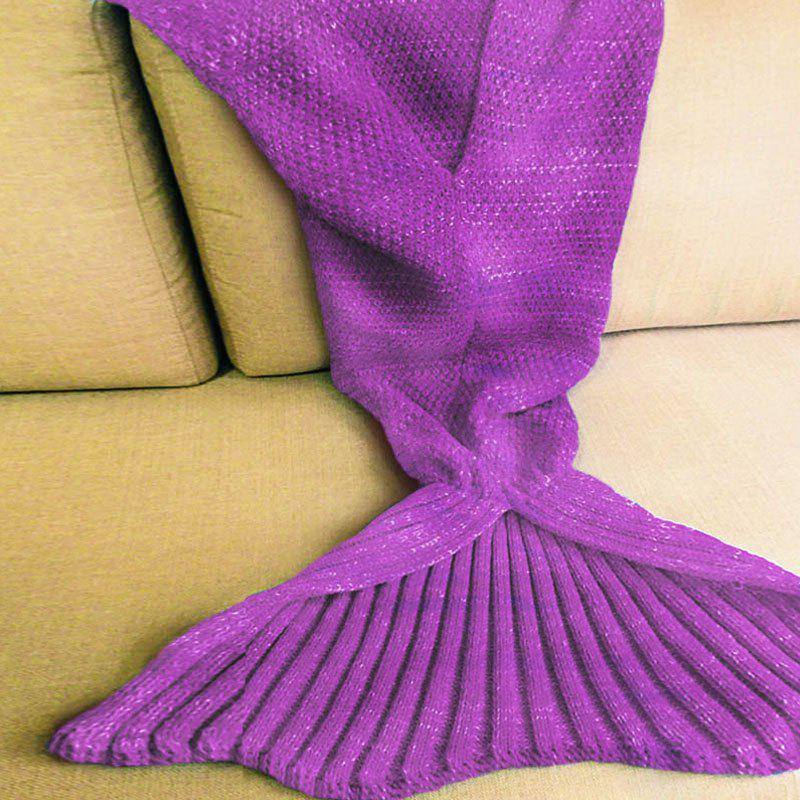 Warm Fishtail Blanket - PURPLE ONE SIZE(FIT SIZE XS TO M)