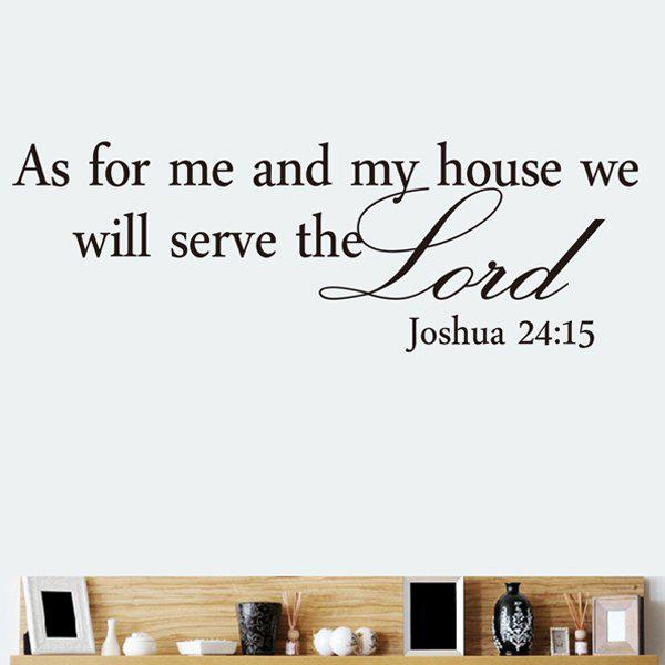 High Quality Bible Sentence Pattern Removeable Wall Sticker - BLACK