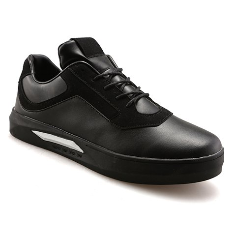 Stylish Splicing and Black Color Design Men's Casual Shoes - BLACK 40