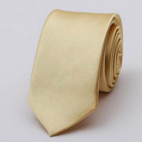 Stylish Various Candy Colors 5CM Width Men's Tie - CHAMPAGNE