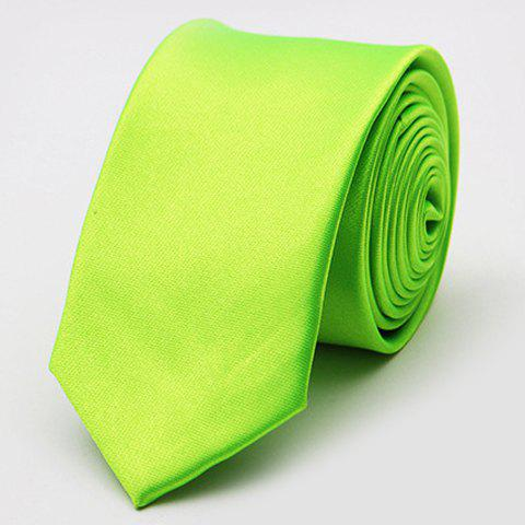 Stylish Various Candy Colors 5CM Width Men's Tie - NEON GREEN