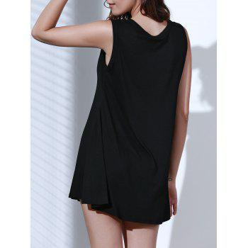 Simple Style Solid Color Sleeveless Tank Top Dress For Women