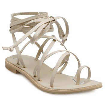 Stylish Flat Heel and Cross Straps Design Women's Sandals