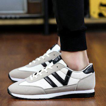 Leisure Color Matching and Lace-Up Design Men's Athletic Shoes - 42 42
