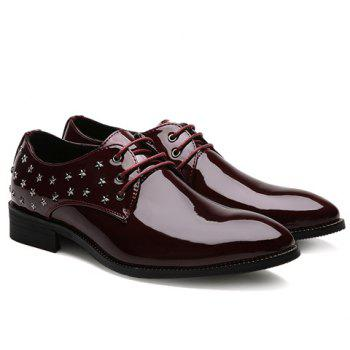 Stylish Star and Patent Leather Design Men's Formal Shoes