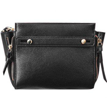 Simple Solid Colour and PU Leather Design Crossbody Bag For Women