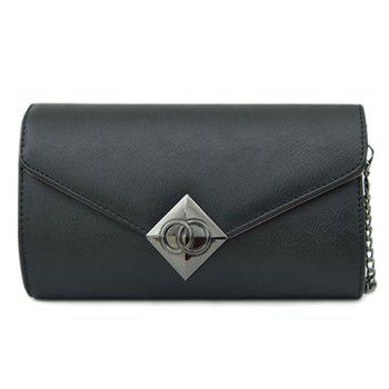 Laconic Metal and Chains Design Women's Crossbody Bag