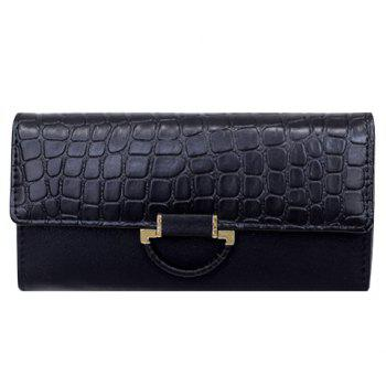 Fashion PU Leather and Crocodile Print Design Clutch Bag For Women