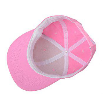 Chic Smilling Face Embroidery Women's Baseball Cap - PINK