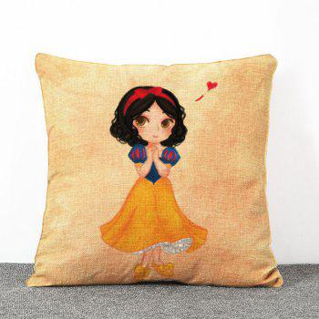 Chic Quality Little Girl Pattern Sweet Style Flax Pillow Case(Without Pillow Inner)