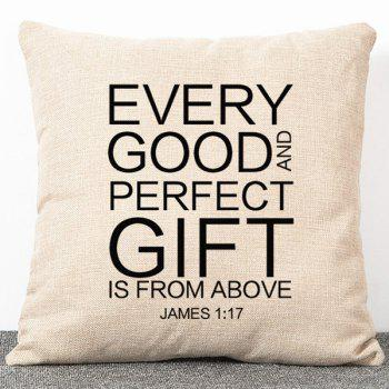 Stylish Flax Simple Style Letters Pattern Pillow Case(Without Pillow Inner)