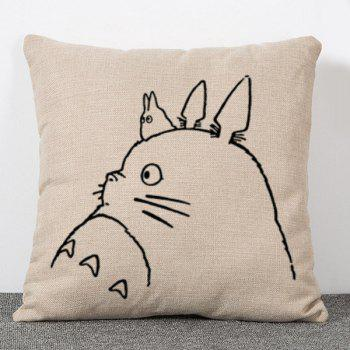 Sweet Simple Style Totoro Pattern Flax Pillow Case(Without Pillow Inner)