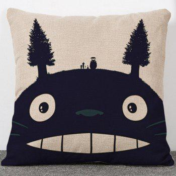 Stylish Cartoon Totoro Design Flax Pillow Case(Without Pillow Inner)