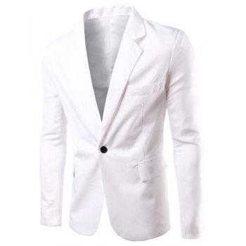 Modish Turn-Down Collar Solid Color Single Breast Long Sleeve Men's Blazer