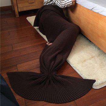 2016 New Style Stylish Cotton Knitting Summer Mermaid Shape Blanket - COFFEE COFFEE
