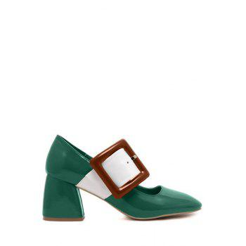 Trendy Color Block and Buckle Design Pumps For Women