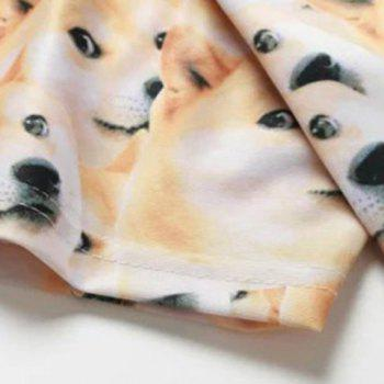 Funny 3D Dog Print Round Neck Short Sleeves Men's T-Shirt - COLORMIX M