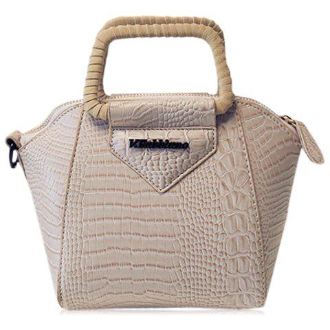 Fashionable Embossing and Metal Design Women's Tote Bag - LIGHT KHAKI