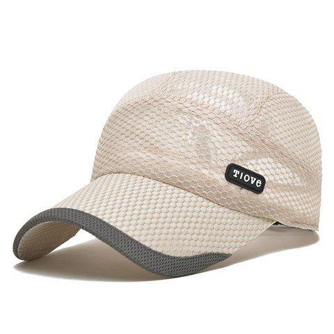 Stylish Letter Rubber and Breathable Mesh Embellished Men's Baseball Cap