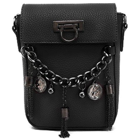 Fashionable Chain and Tassels Design Women's Crossbody Bag