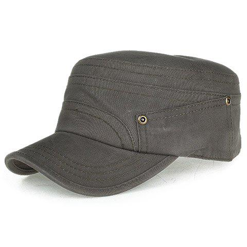 Stylish Alloy Buttons Embellished Men's Military Hat